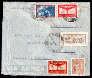Argentina 1941 Panair registered cover Buenos Aires to New York WS11850