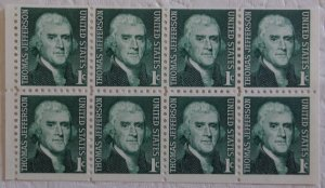 United States 1278a Dull Gum Booklet Pane MNH Cat $1.75