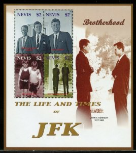 NEVIS THE LIFE & TIMES OF JFK JOHN F. KENNEDY  SHEET I  MINT NEVER  HINGED