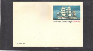 Postcard UX76 14c Coast Guard Eagle Mint CV0594