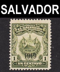 El Salvador Scott 468 MISSING OVERPRINT ERROR  F+ mint OG HR.