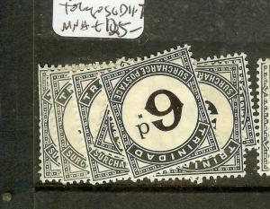 TRINIDAD AND TONAGO  ((P1701B) POSTAGE DUE  SGD11=7  MNH