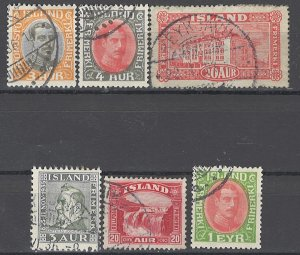 COLLECTION LOT OF # 1699 ICELAND 6 STAMPS 1920+