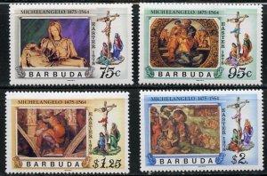 Barbuda MNH 328-31 Michelangelo Works Easter 1978