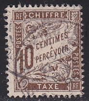 France J30 Postage Due Stamp 1893
