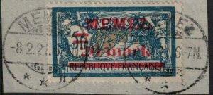 Memel 1920-1921 SC 33 on Piece