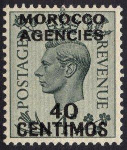 Morocco 1937 40c on GB 4d Grey Green SG 169 Scott 87 UMM/MNH Cat £38($62)