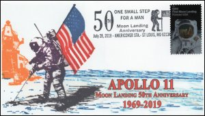 19-205, 2019, Moon Landing, Pictorial Postmark, Event Cover, Apollo 11, St Louis