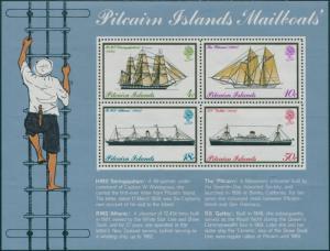 Pitcairn Islands 1975 SG161 Mailboats MS MNH