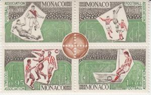 MONACO -Scott 560a to 564a BLOCKS / Soccer - Futbol MINT NH