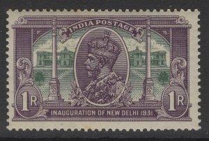 INDIA SG231 1931 1r VIOLET & GREEN MTD MINT