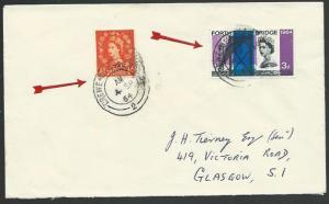 GB 1964 cover CREWE - GLASGOW S.C. railway Sorting Carriage cds............53353