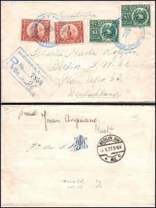 Goldpath: Guatemala registered cover 1927, to Germany  _CV23_P12