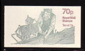 Great Britain Sc BK326 1978 Thatching 70 p booklet NH