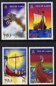 Isle of Man 1998 Viking Longships set of 4 unmounted mint...