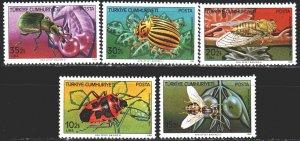 Turkey. 1982. 2611-15. Insects, fauna. MNH.