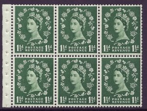 SB70 Wilding booklet pane Graphite perf type I UNMOUNTED MNT/MNH