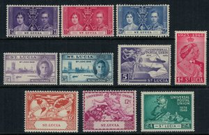 St. Lucia #107-9,127-9,131-4*  CV $4.35