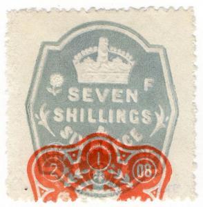 (I.B) Edward VII Revenue : General Duty Adhesive 7/6d (series 9)