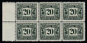 Canada (Revenue) van Dam FPS13, MNH block of six