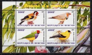 Burundi - Cto-nh - Birds / Finches (Souvenir Sheet)