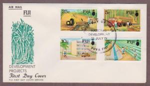Fiji # 333 - # 336 , Highway & Developments FDC - I Combine S/H