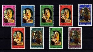 CAYMAN IS - 1969 - CHRISTMAS - MADONNA & CHILD - KINGS - MINT - MNH SET OF 9!