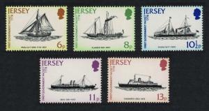 Jersey Ships England-Jersey Gov't Mail Packet Service 5v SG#197-201
