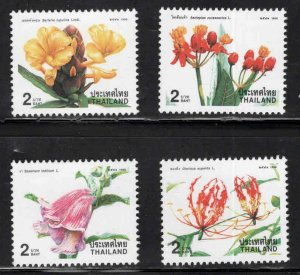 Thailand  Scott 1841-1844 MNH** 1998  Flower stamp set New Years 1999