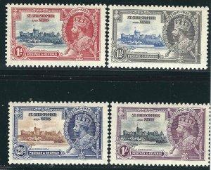 Saint Kitts-Nevis 72-75 SG61-64 Silver Jubilee MLH VF 1935 SCV $10.80