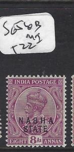 INDIA  NABHA   (P2508B)   KGV   8A  SG  56B        MOG