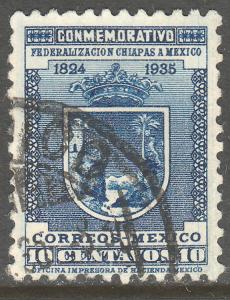 MEXICO 722, 10c ANNIV. CHIAPAS STATE. USED. VF. (570)