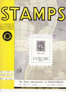 Stamps Weekly Magazine of Philately October 28, 1933 Stamp Collecting Magazine