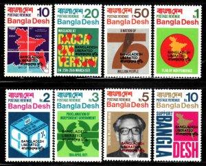 Bangladesh # 9-16 ~ Cplt Set of 8 ~ Mint, NH