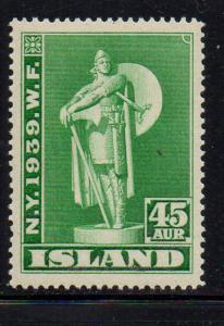 Iceland Sc 215 1939 45 aur  Karlsefni stamp mint