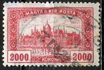 Hungary; 1924: Sc. # 377: O/Used Single Stamp