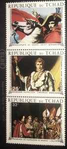 Chad C63b MNH Strip of 3 200 anniversary Napoleans birth