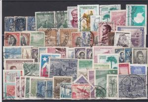 Used Chile Mixed Stamps Ref 29276