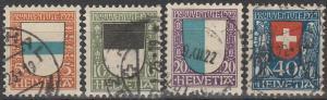 Switzerland #B21-4 F-VF Used  CV $58.00  (D2040)