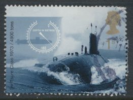 GB  SC# 1968 Royal Navy Submarine 2001  SG 2203  Used   as per scan