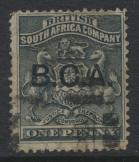 British Central Africa  SG 1 SC# 1  BSAC Opt B.C.A. used see details