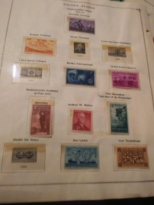 US 1954-1956 USED COLLECTION 4 pgs.