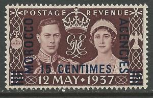 Great Britain-Morocco # 439 Coronation 1937 (1)  VLH Unused