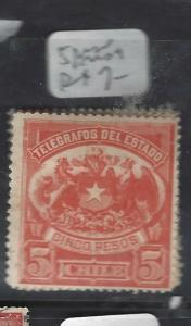 CHILE (P3101B) TELEGRAPH STAMP 5 P       MOG