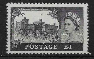 GB SG539 1955 £1 BLACK WATERLOW PRINTING MNH