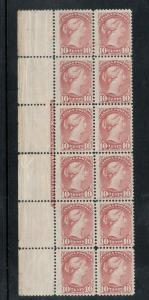 Canada #40 Mint Fine - Very Fine Plate Block Of Twelve **With Certificate**