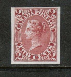 Canada #20TCi Fine - Very Fine Proof On India Paper