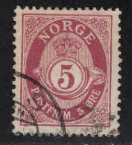 Norway Scott 78 Used Post Horn stamp
