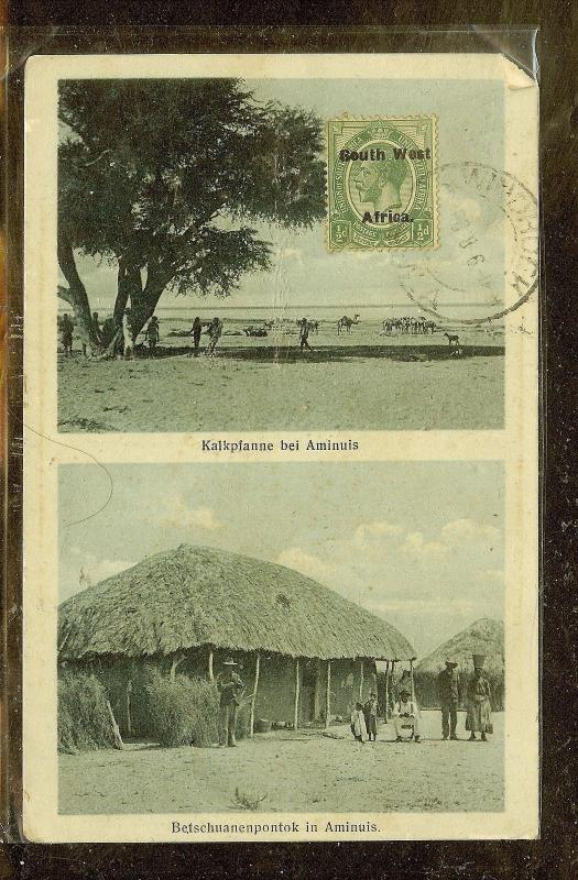 SOUTH WEST AFRICA  (P0210B) KGV 1/2D ON PPC TO JAPAN.   INCREDIBLE !!!!