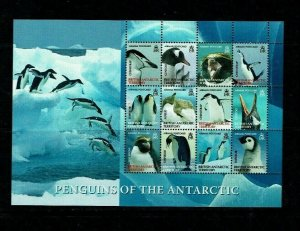 British Antarctic Territory: 2008, Penguins of the Antarctic, 3rd issue, MNH set